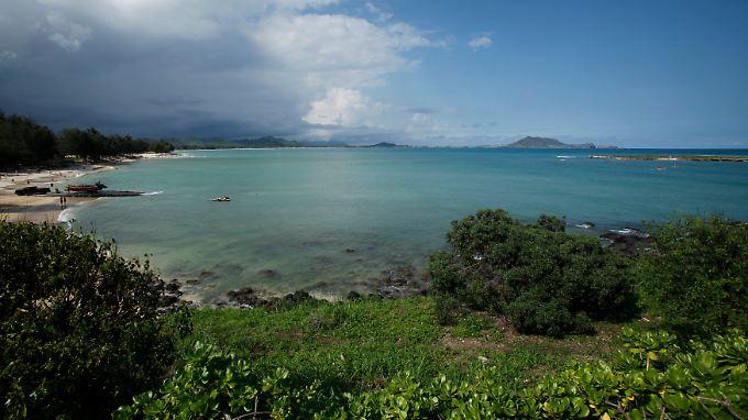 Kailua Bay auf Hawaii: Die Computerpanne bei United Continental schont die Urlaubskasse.
