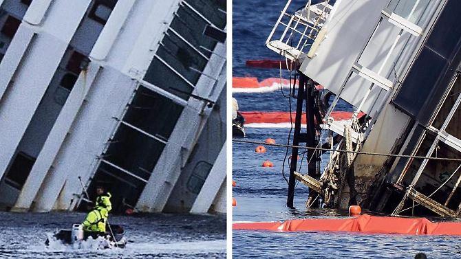 Bergung der Concordia: Ein Kreuzfahrt-Riese taucht auf