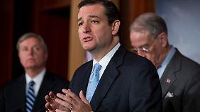 """Redemarathon gegen """"Obamacare"""": US-Senator spricht 22 Stunden ohne Pause"""