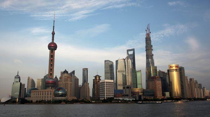 Blick auf das moderne Shanghai.