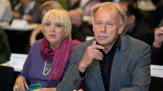 Claudia Roth hielt eine Abschieds-, Jürgen Trittin eine Verteidigungsrede.