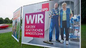 Die SPD fordert einen gesetzlichen Mindestlohn von 8,50 Euro.