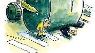 ... und Miriam Wursters Humor kommt mit der Dampfwalze.