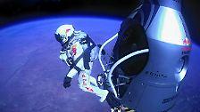 Baumgartners Sprung in die Geschichtsbücher: Riskanter Sturz vom Rand des Weltalls
