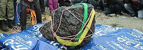 Fund in russischem See: Überrest des Tscheljabinsk-Meteoriten geborgen