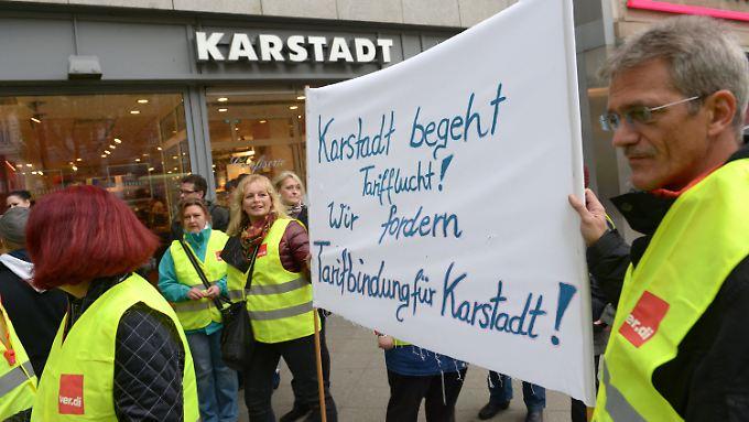 Bundesweite Streikaktionen: Karstadt bleibt vielerorts dicht
