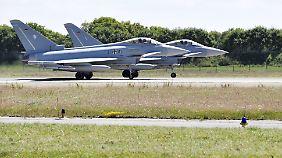 Ein Eurofighter auf der Startbahn? Das war zuletzt ein seltener Anblick.