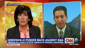 Greenwald äußerte sich in der Sendung von Christiane Amanpour.