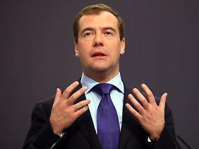 Dmitri Medwedjew will die Privatisierungen vorantreiben.