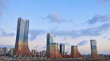 Es ist nicht alles grauer Beton: Hochhäuser können quietschbunt sein
