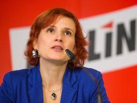 Katja Kipping ist froh, von den Sozialdemokraten nicht mehr als Stalkerin angesehen zu werden.