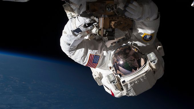 astronaut Chris Cassidy worked in May at an ammonia pump.