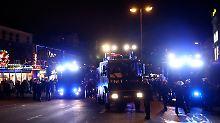 Die Polizei erklärte große Bereiche der Hamburger Innenstadt zum Gefahrengebiet.