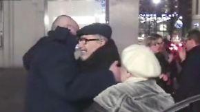 Wiedersehen nach zehn Jahren Haft: Chodorkowski schließt seine Familie in die Arme