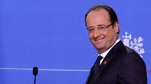 Hollande liebt Witze und nimmt sich auch selbst nicht zu ernst.