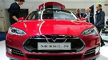 """Da steckt schon viel """"Vernetztes"""" drin: Tesla Model S."""
