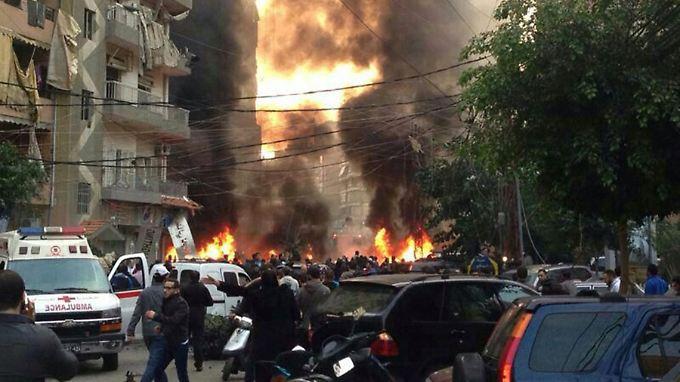 Die Explosion soll sich nahe des politischen Büros der Hisbollah-Miliz ereignet haben.