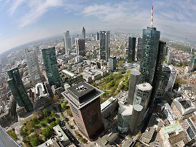Blick auf die Frankfurter Bankentürme.