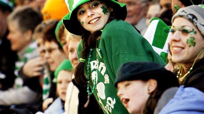 Feiernde Iren am St. Patrick's Day
