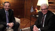 Steinmeier trifft griechischen Ministerpräsidenten: Athen soll weiter geholfen werden