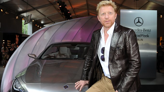 Becker auf der Mercedes-Benz Fashion Week im Juli 2011 in Berlin.