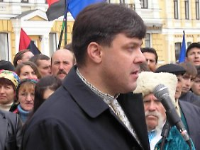 Oleg Tjagnibok elektrisiert die Massen.