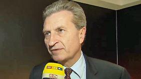 """EU-Kommissar Oettinger im Interview: """"Vielleicht haben wir Putin unterschätzt"""""""
