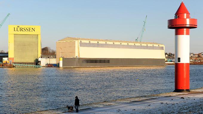 Die Lürssen-Werft in Bremen.