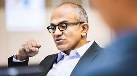 """""""Geehrt, demütig, begeistert"""": Satya Nadella wird neuer Microsoft-Chef"""