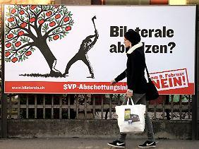 """""""Bilaterale abholzen?"""" - die Gegenkampagne zur SVP-Initiative."""