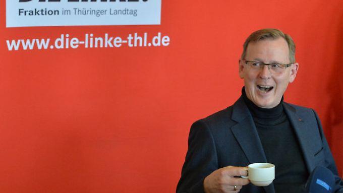 Bodo Ramelow könnte im September in die Staatskanzlei in Thüringen einziehen - mit der SPD als Juniorpartner.