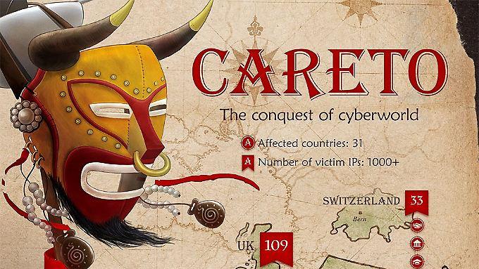 """Im Quellcode taucht die Bezeichnung """"Careto"""" auf, """"Die Maske""""."""