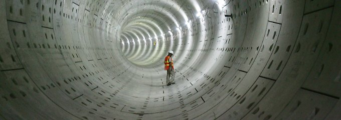 Ehrgeiziges Vorhaben: Mit einer Länge von 123 Kilometern wäre der Bohai-Tunnel der mit Abstand längste der Welt (Archivbild).