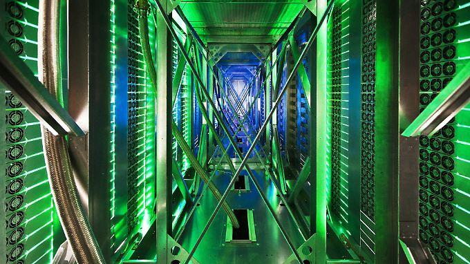 Ein Blick ins Google-Datenzentrum: Google sitzt da, wo der Datenschutz am geringsten sei, sagt Merkel.