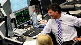 Gute Laune und entspannte Stimmung unter deutschen Börsianern.