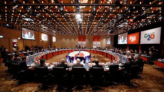 Glitzernde Welt in Sydney: Die G20 sind optimistisch.