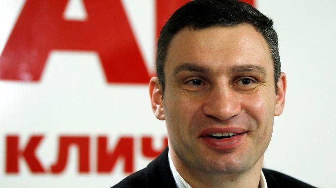 Vitali Klitschko will bei der Präsidentschaftswahl in der Ukraine kandidieren.