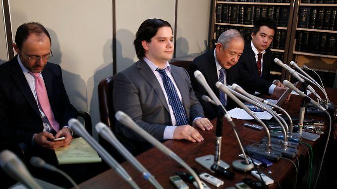 MtGox-Gründer Mark Karpeles während einer Pressekonferenz in Tokio.