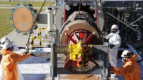 Deutschland bezieht russisches Gas auch über die Ostseepipeline Nord Stream - hier der Anlandepunkt in Lubmin in Mecklenburg-Vorpommern.