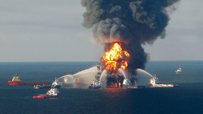 Bei der Explosion der BP-Bohrinsel Deepwater Horizon im Golf vom Mexiko kamen im April 2010 elf Arbeiter ums Leben.
