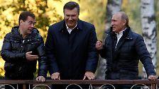 Auch die russische Regierung stärkt dem Zwei-Meter-Mann offiziell noch den Rücken. Eine politische Zukunft in der Ukraine hat dieser allerdings wohl kaum.