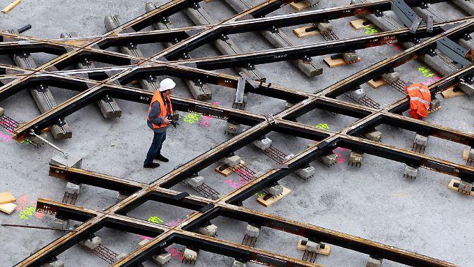 Keine Zukunftschancen sieht der ThyssenKrupp-Vorstand für das Geschäft mit Gleisen.