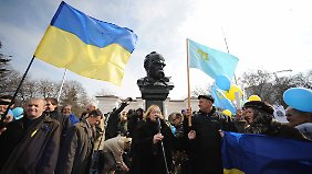 Unruhen vor dem Referendum: Krim-Regierung will ukrainische Schiffe beschlagnahmen
