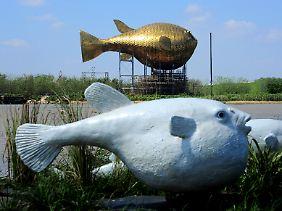 Ein Kofferfisch aus Kupfer in China. Wofür ist das ganze Kupfer gekauft worden?