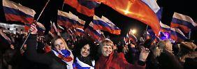 Bewohner der Krim freuen sich auf einen Anschluss an Russland.