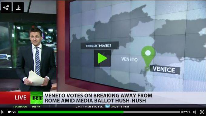 """""""Russia Today"""" fragt: """"Haben Sie schon von dem Referendum in Venetien gehört?"""""""