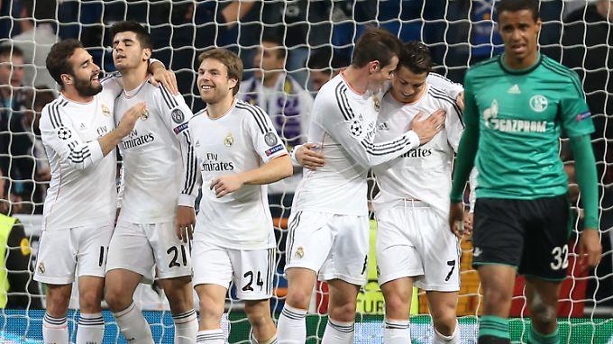 Insgesamt neun Tore durften die Madrilenen in den beiden Spielen gegen Schalke bejubeln.