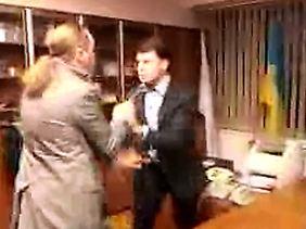 Bei dem Übergriff auf den ukrainischen TV-Chef zeigte die Swoboda, wie sie gewöhnt ist, Probleme zu lösen.