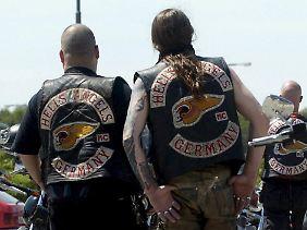 Streitlustig: Mitglieder des Hells Angels Rockerklubs.
