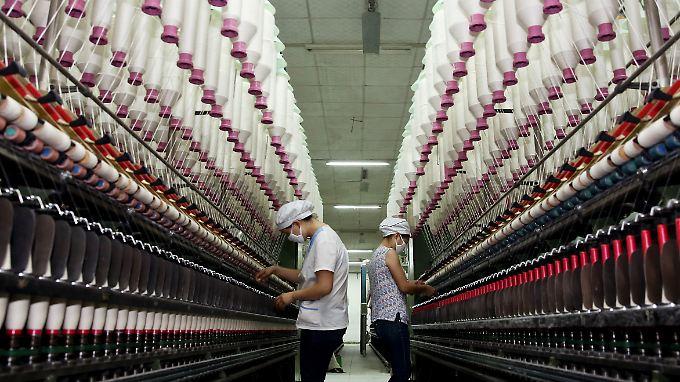 Manpower ist in China billig - noch.